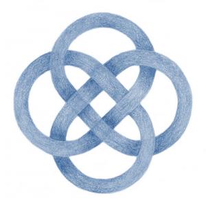 ierse knoop blauw helder - Keltisch Levenswiel